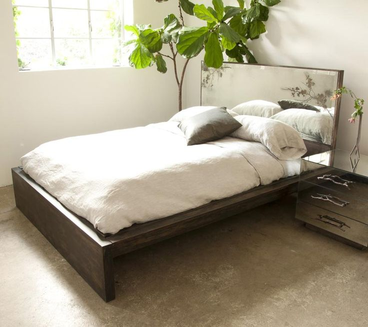 Mirror Headboard Bed