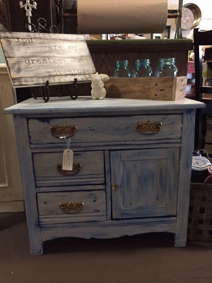 Great Janet VanAntwerp Used Dixie Belle Paint Colors Cobalt Blue And Fluff