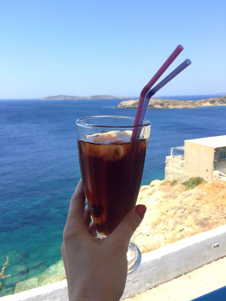 The outlook from a bar in Andros, Greek Islands