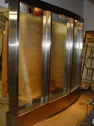 how to build an indoor water wall