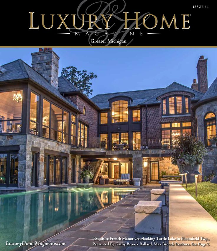 Home Magazine: Luxury Home Magazine Michigan Issue 3.1 Front Cover