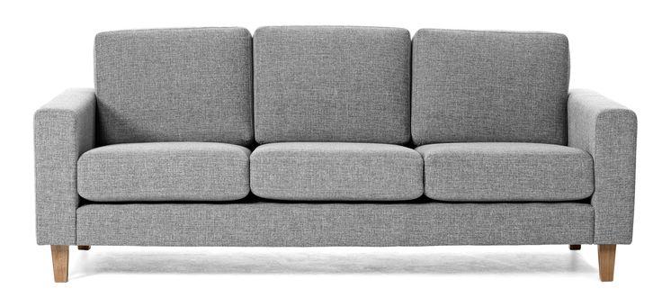 Focus 3-sits soffa Tyg Troy grey, konade ekben 6 495 kr från Mio