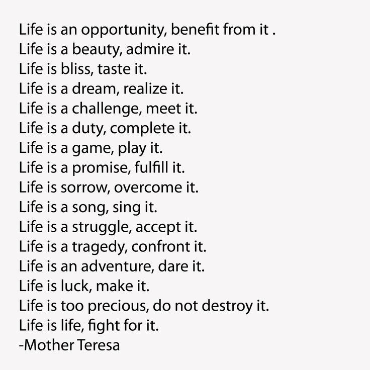 Life is... Mother Teresa