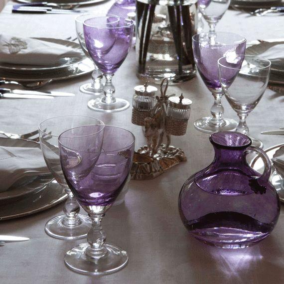 Buy Amethyst Wine Goblet - Tabletop - Accessories - Dering Hall