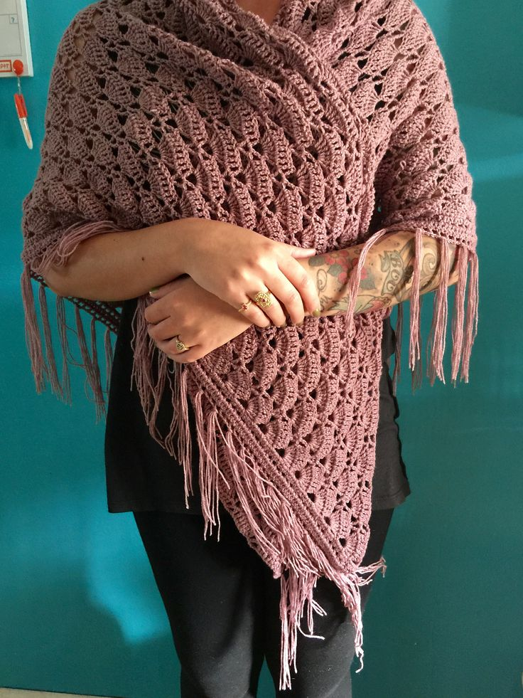 Fairy Tail Shawl By E. Leire - Free Crochet Pattern - (ravelry)
