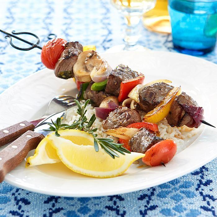 Kreikkalaiset lihavartaat (Souvlaki)