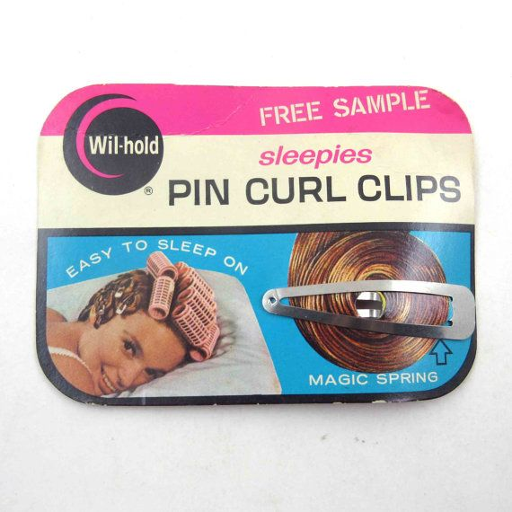 Vintage Wil Hold Sleepies Pin Curl Clips on by grandmothersattic