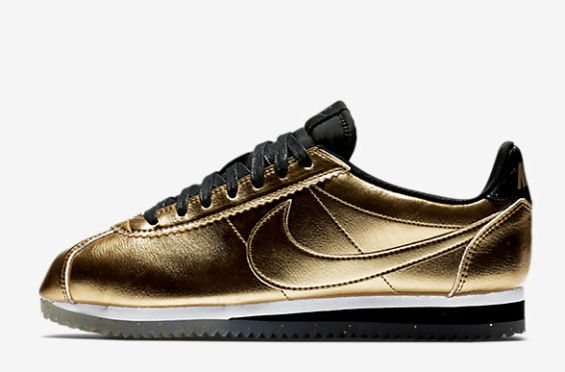 Available Now: Nike Classic Cortez Leather SE In Metallic Gold