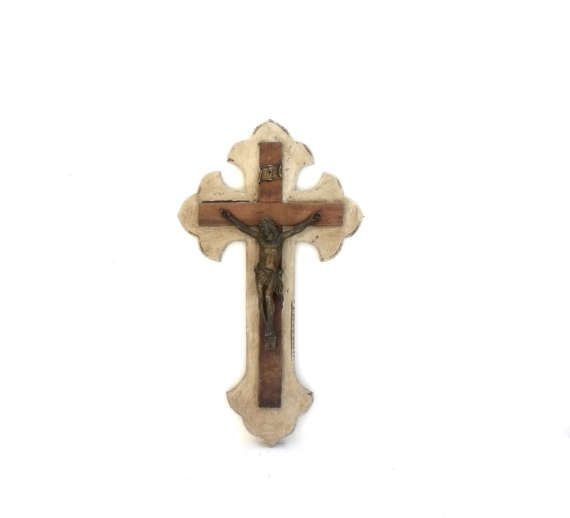 £45,Large Antique Religious Cross Crucifix French  shabby chichttps://www.etsy.com/your/shops/me/dashboard