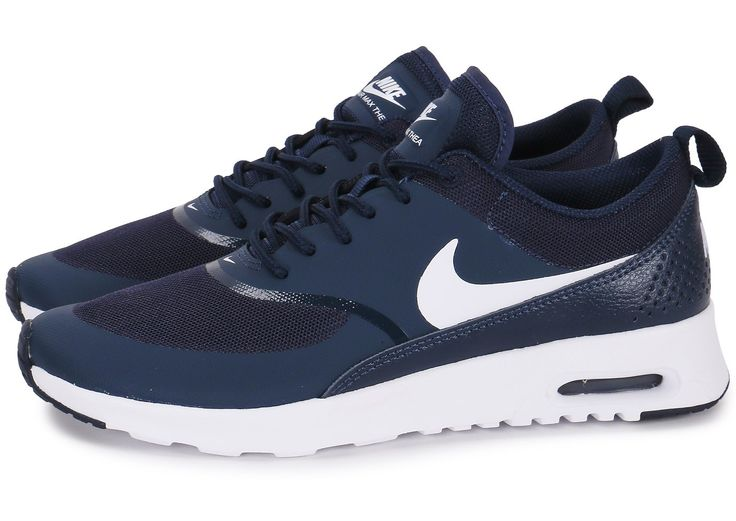 Baskets Nike Air Max Thea Bleu Marine Saumon