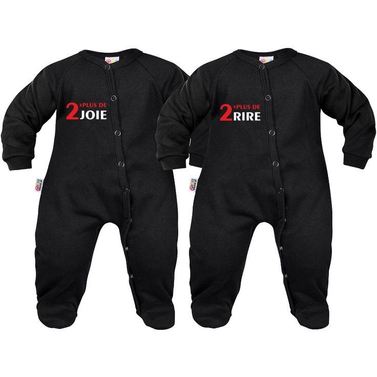 Pyjamas bébé jumeaux: 2x plus de joie / 2x plus de rire - SiMedio