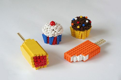 https://flic.kr/p/85upU1 | Lego food | cupcakes, corn dog, and a creamsicle