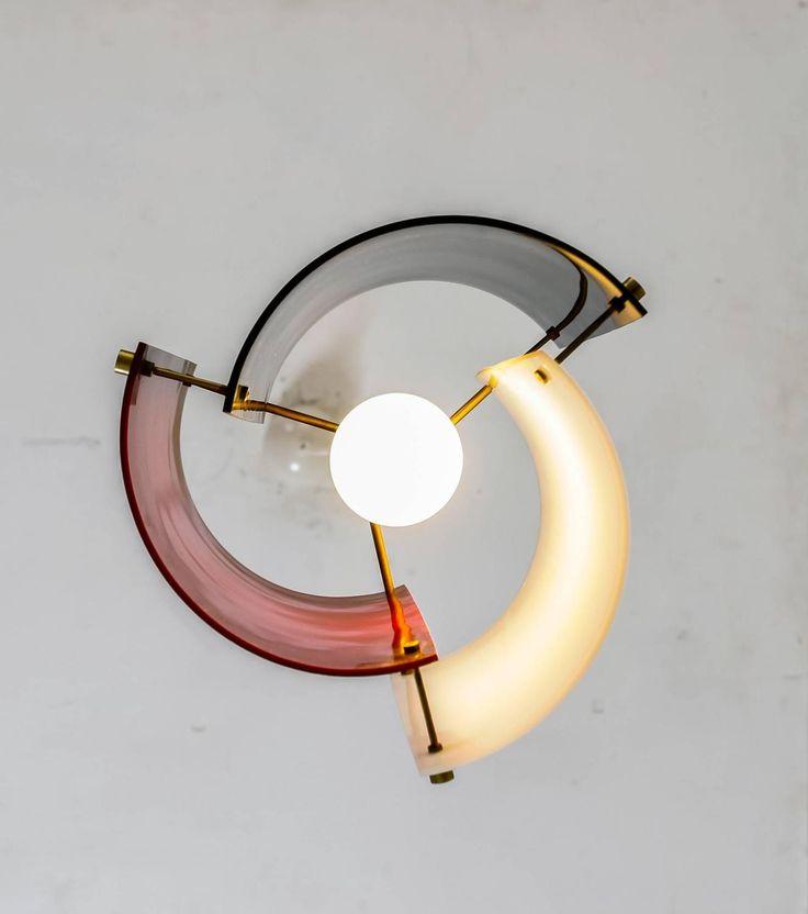 Yki Nummi Mulit-Color Plexiglass Pendant for Orno, Finland, 1960s 3