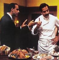 10 april 2012: Voeden. Foto: Tony Shalhoub als Primo en Stanley Tucci als Secondo in Big Night over twee Italiaanse broers wiens levens door voedsel worden bepaald