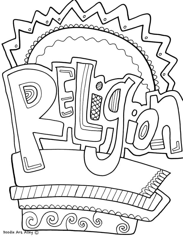 Subject Cover Pages Coloring Pages Classroom Doodles Cover