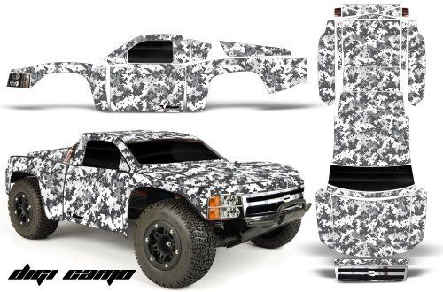 Chevy Silverado 1500-PRO LINE-Traxxas Slash-PRO3307-60-AMRRACING-RC Graphics Kit-DIGI CAMO-WHITE by AMRRACING. $39.95. 98% Body coverage; AMR Racing RC kits are made from Thick Motocross quality vinyl; AMR RC Kits very Easy to install.; Graphics kit it new in sealed manufactures packing.; Listing includes graphics kit only, body not included.. AMR Racing RC kits are made from Thick Motocross quality vinyl.  Please don't confuse these with cheap, paper thin kits manufacture...