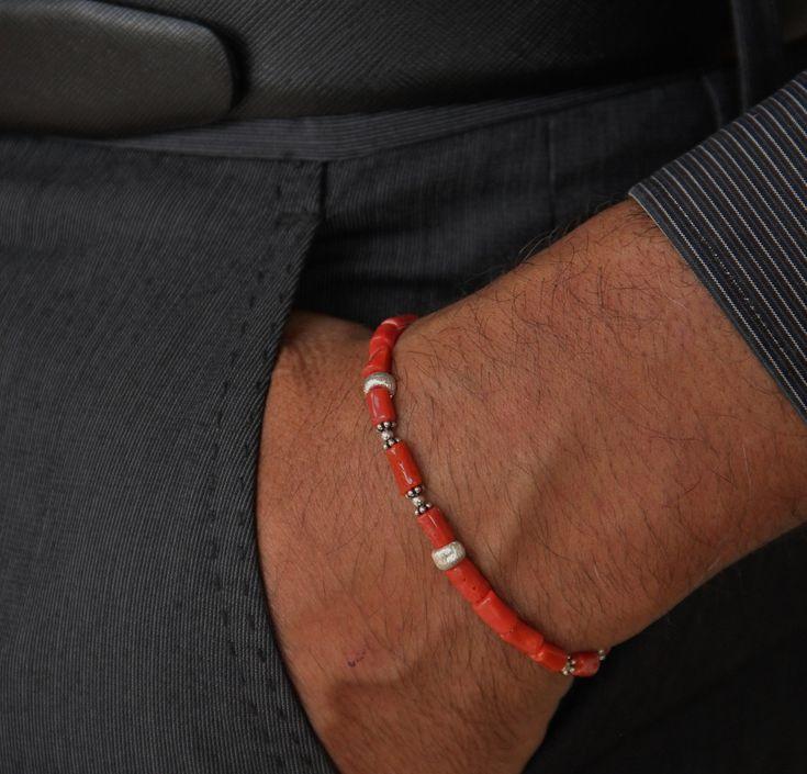 bracelet homme en corail rouge corse certifi 1er choix et argent bh30 bijoux pour homme. Black Bedroom Furniture Sets. Home Design Ideas