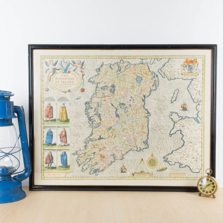 Antiguo mapa de Irlanda   Antic&Chic