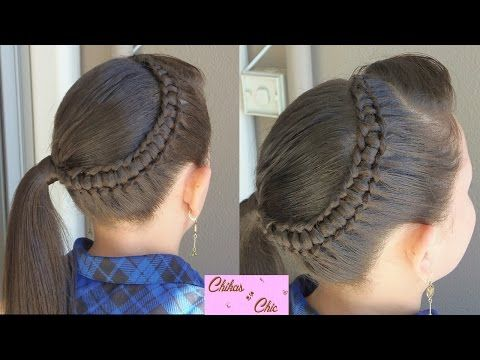 Line braid wrapping around | Chikas chic - YouTube - it is spoken in Spanish but easy enough to just watch!!!!