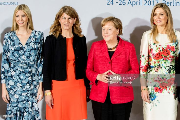 First Daughter and Advisor to the US President Ivanka Trump, co-chairwoman of the W20 Stephanie Bschorr, German Chancellor Angela Merkel, Queen Maxima of the Netherlands attend the W20 conference on April 25, 2017 in Berlin, Germany. The conference, part of a series of events in connection with Germany's leadership of the G20 group of nations this year, focuses on women's empowerment, especially through entrepreneurship and the digital economy.