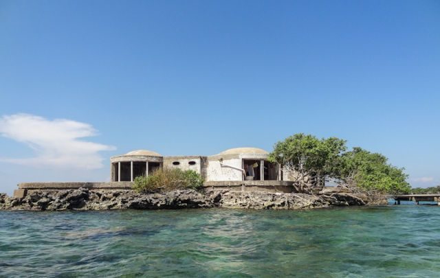 Pablo Escobar's party palace on a remote island off the coast of Cartagena on La Isla Grande