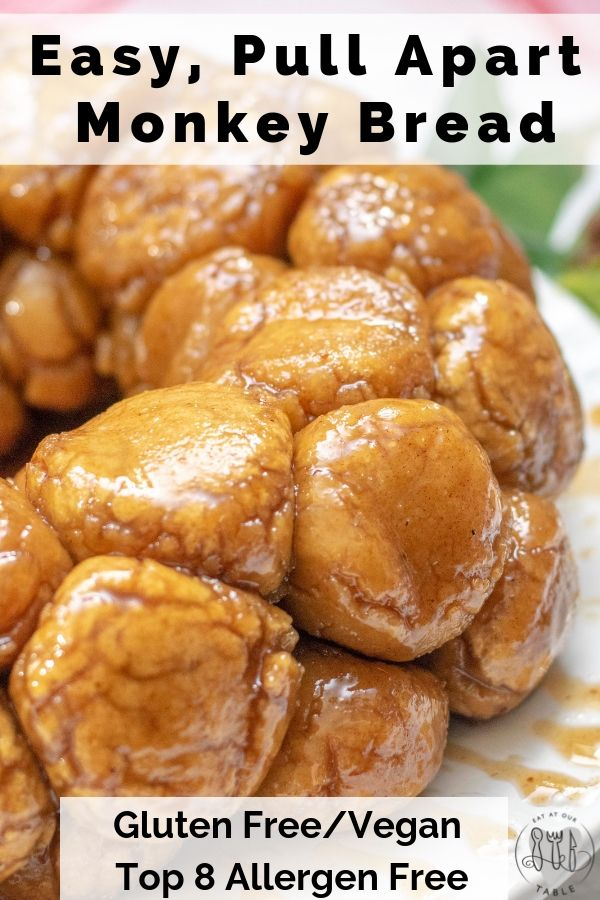 Easy, no rise, vegan gluten free monkey bread. You will not believe how easy thi…