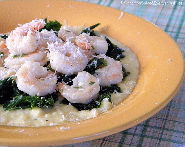 polenta with shrimp spinach and tomatoes recipes dishmaps and tomatoes ...