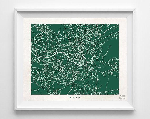 #Bath #England #UnitedKingdom #UK #Print #Map #Poster #State #City #Street  #Map #Art #Decor #Town #Illustration #Room #WallArt #Customize #Bedroom #Livingroom #GiftIdea #Gift #Christmas #ChristmasGift #BirthdayGift #Birthday #Dorm #Country #Home #Decoration #Inkistprints