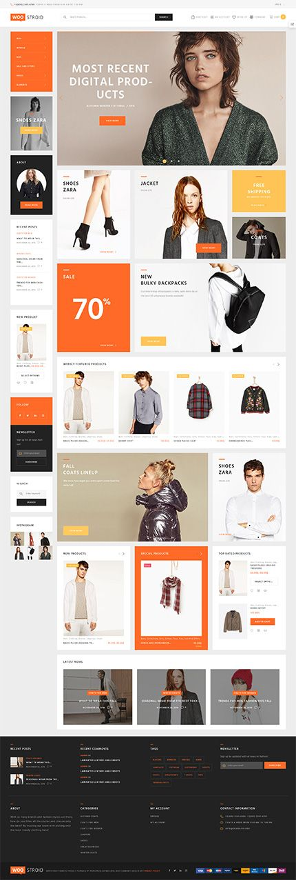 Trendy Fashion Clothing Online Store #WooCommerce #template. #themes #business #responsive #WooCommercethemes