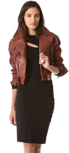 Lace dress leather jacket master