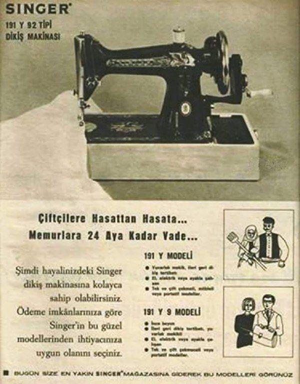 Singer Dikiş Makinası #birzamanlar #istanlook #nostalji #eskireklamlar