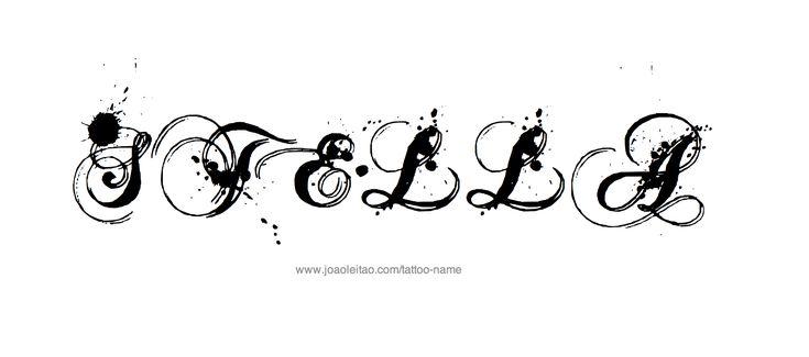 Σχεδίαση Τατουάζ Όνομα Stella