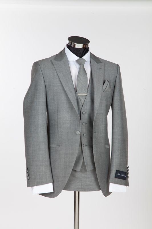 Richmond Silver Mohair Slim Wedding Suit by Jack Bunney