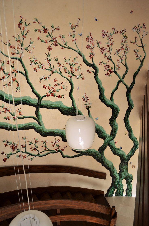 Mosaic tree decoration.