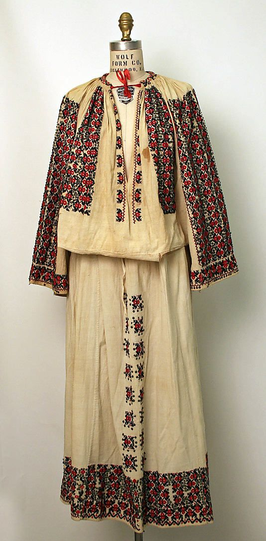 Ensemble Date: late 19th century Culture: Romanian Medium: cotton