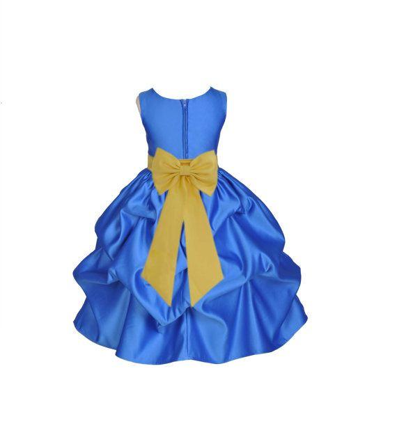 Royal Blue / choice of color sash kids Flower by ekidsbridalusa