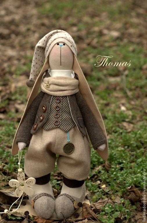 Купить Зайка Thomas - 39 см - коричневый, пасхальный заяц, Пасхальный кролик, зайка игрушка
