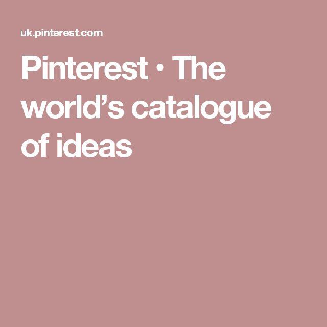 Pinterest • The world's catalogue of ideas