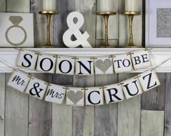 Engagement engagement gift Engagement Banner by WeddingBannerLove