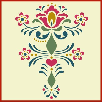 Rosemaling, rosemaling stencil theartfulstencil