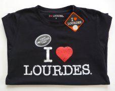Ladies Lourdes Black T-Shirt.