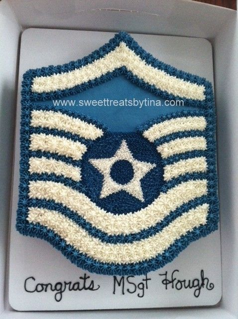 Butter cream military promotion cake.