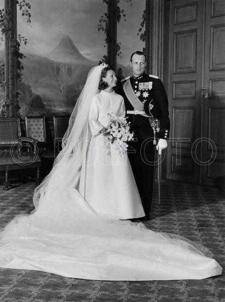 Principe Harald de Noruega y Sonia Haraldsen, 29 de Agosto de 1968