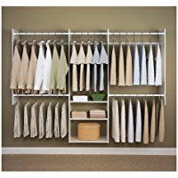 Easy Track RB1460 4 to 8-Foot Deluxe Closet Starter Kit, White