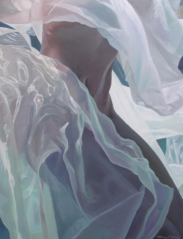 """Saatchi Online Artist: Michael Toland; Oil, Painting """"hidden lotus"""""""