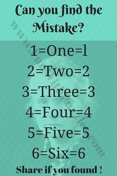 More Puzzles to Find the Mistake in Picture | EdVentures in