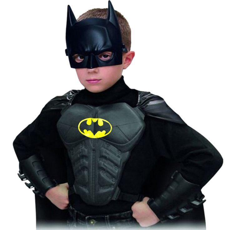 2016 Бэтмен Костюмы Партия Косплей Детская Одежда Хэллоуин Superhero Мальчики Одежды Наборы (Маска + Плащ + Накулачник + Нагрудный) #men, #hats, #watches, #belts, #fashion, #style