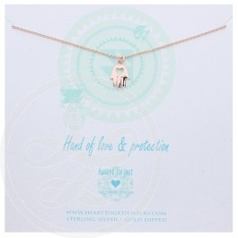 Hamsa with heart necklace #hearttoget #necklace