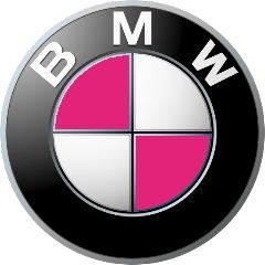PINK BMW emblem  #BMWofAlexandria favorite!
