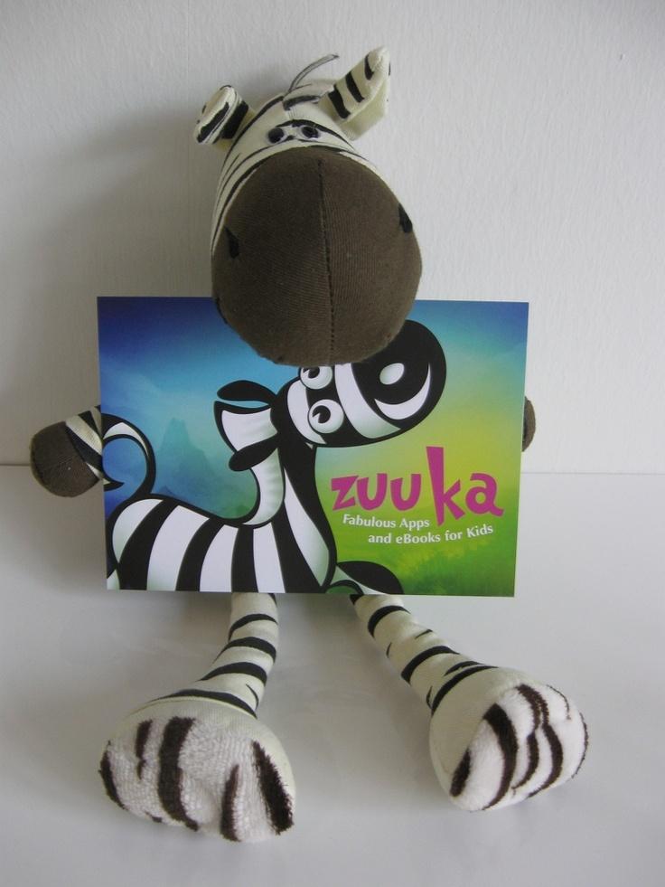 Das zuuka Maskottchen mit eigener Promotion Card.